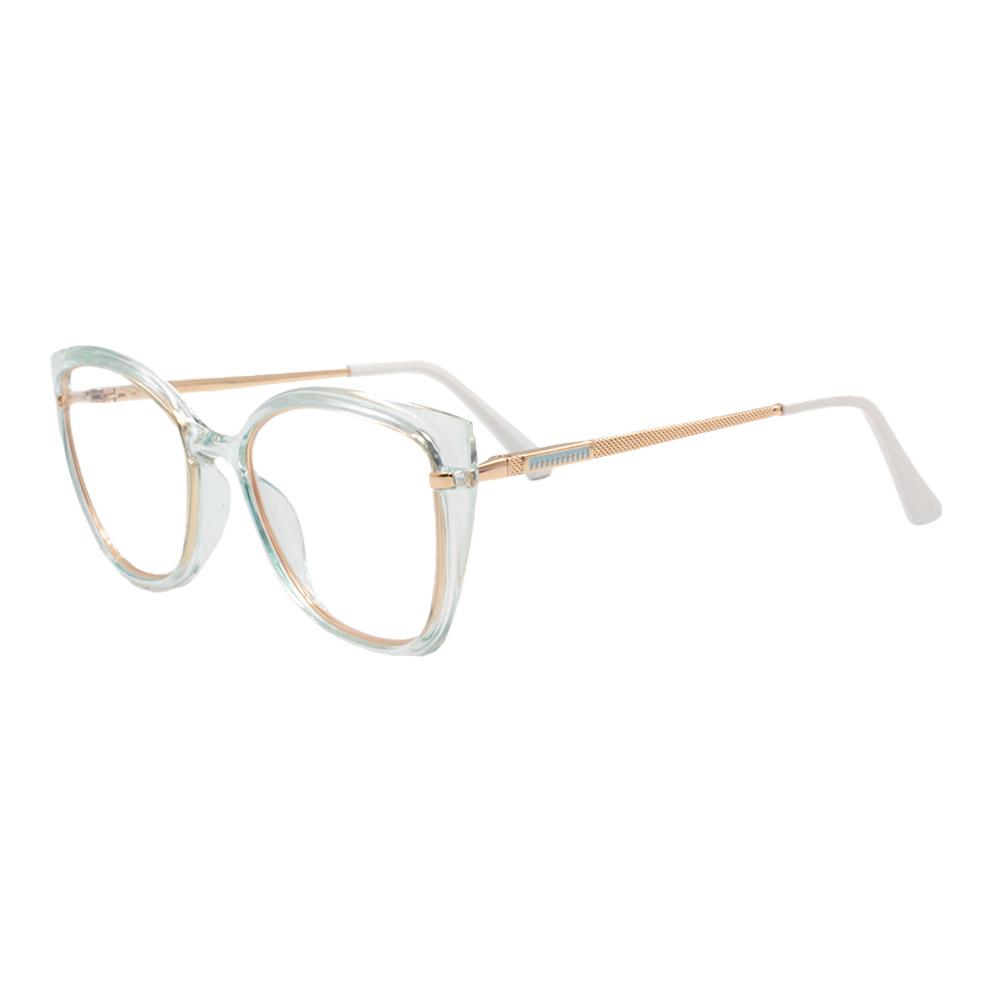 Armação para Óculos de Grau Feminino FD633056 Verde