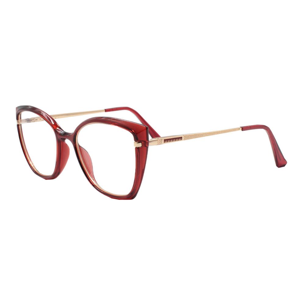 Armação para Óculos de Grau Feminino FD633056 Vermelha