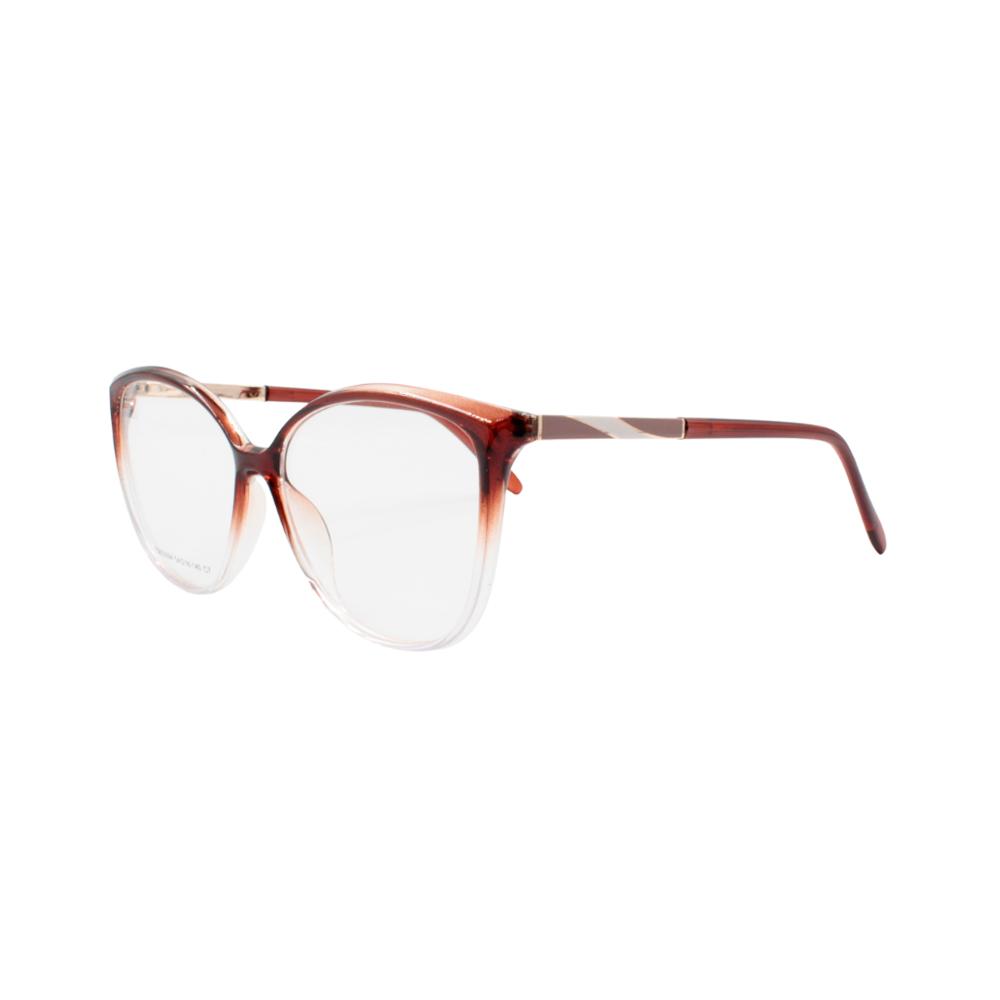 Armação para Óculos de Grau Feminino FD633094-C7 Marrom Degradê