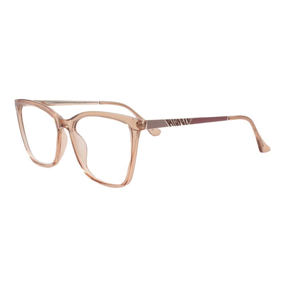 Armação para Óculos de Grau Feminino FD633107 Laranja