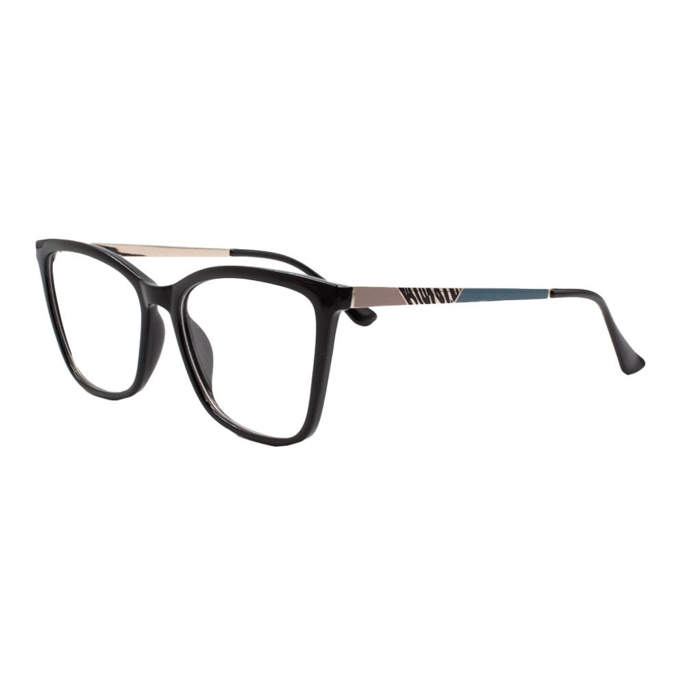Armação para Óculos de Grau Feminino FD633107 Preta