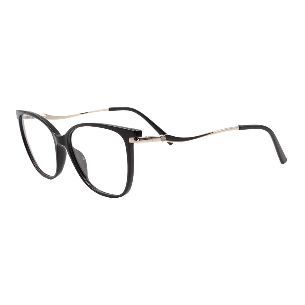 Armação para Óculos de Grau Feminino FD633112 Preta