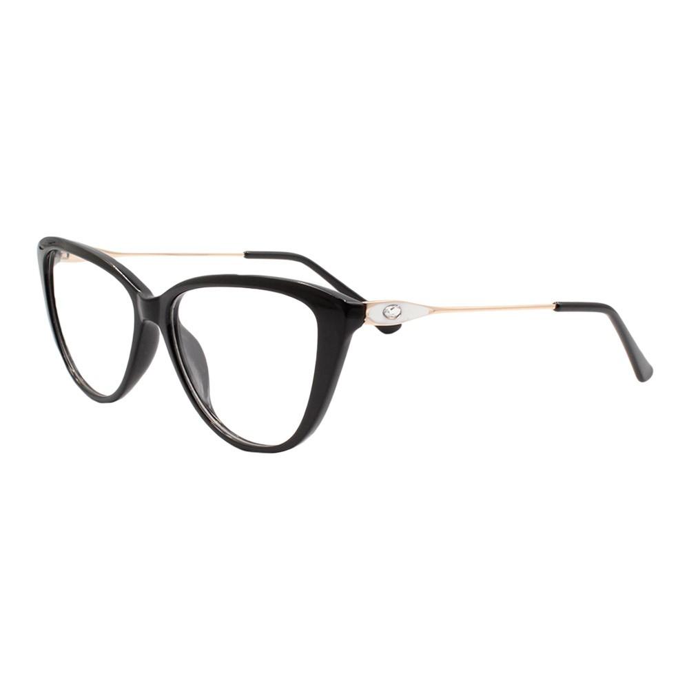 Armação para Óculos de Grau Feminino FD8906 Preta