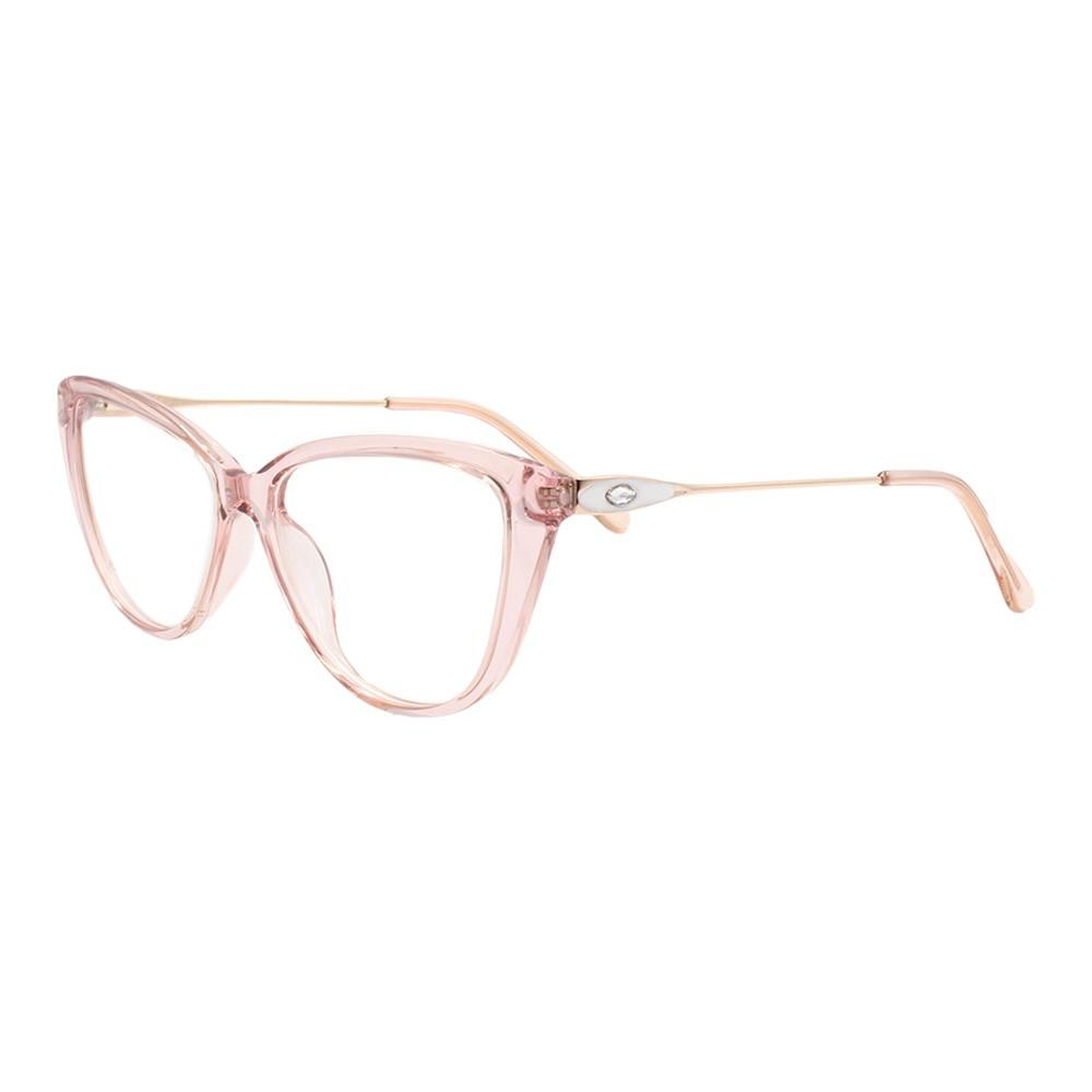 Armação para Óculos de Grau Feminino FD8906 Rosa Translúcido