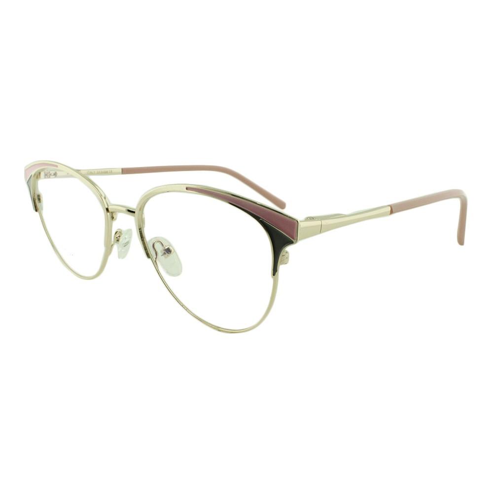 Armação para Óculos de Grau Feminino FY1108 Dourada e Rosa