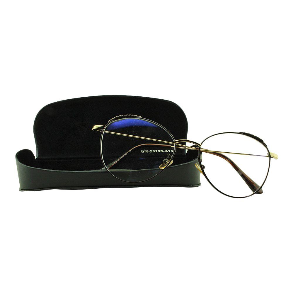 Armação para Óculos de Grau Feminino G8026 Marrom com Estojo Vianzo