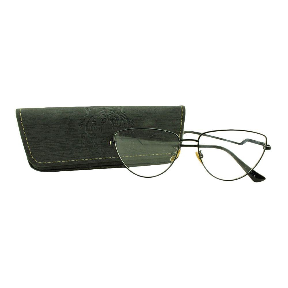 Armação para Óculos de Grau Feminino G8049 Preta com Estojo Vianzo