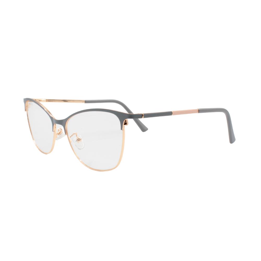 Armação para Óculos de Grau Feminino G8068-C219 Dourada e Cinza