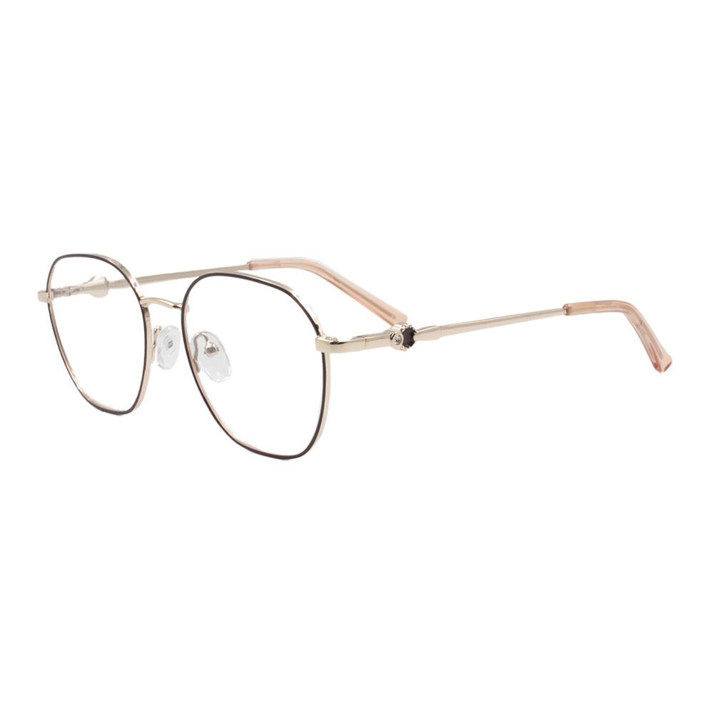 Armação para Óculos de Grau Feminino ISA1024 Dourada e Marrom