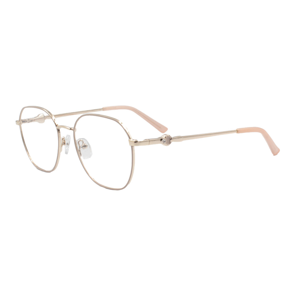 Armação para Óculos de Grau Feminino ISA1024 Dourada e Nude