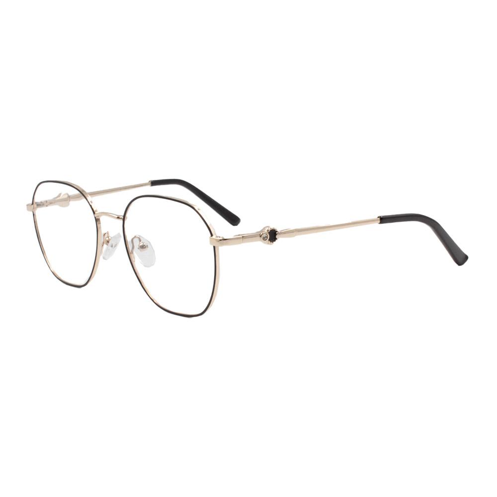 Armação para Óculos de Grau Feminino ISA1024 Dourada e Preta