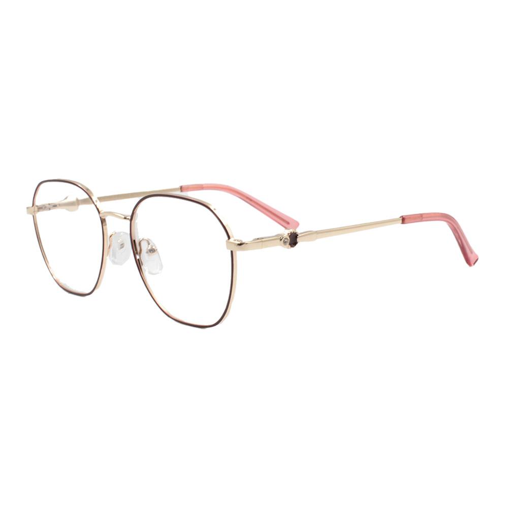 Armação para Óculos de Grau Feminino ISA1024 Dourada e Vinho