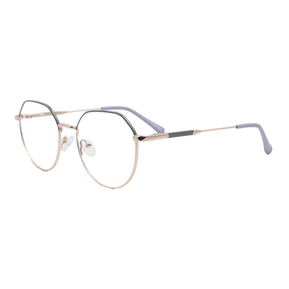 Armação para Óculos de Grau Feminino ISA1037 Dourada e Azul