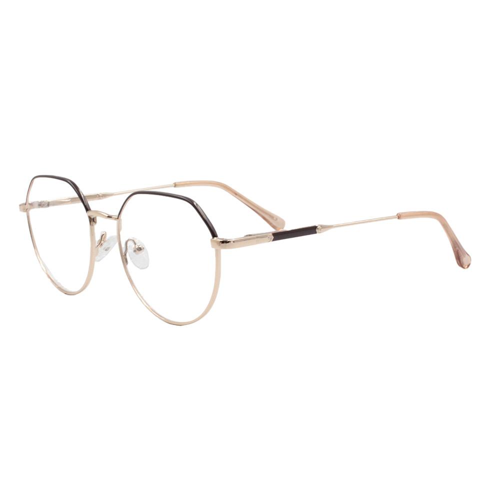 Armação para Óculos de Grau Feminino ISA1037 Dourada e Marrom