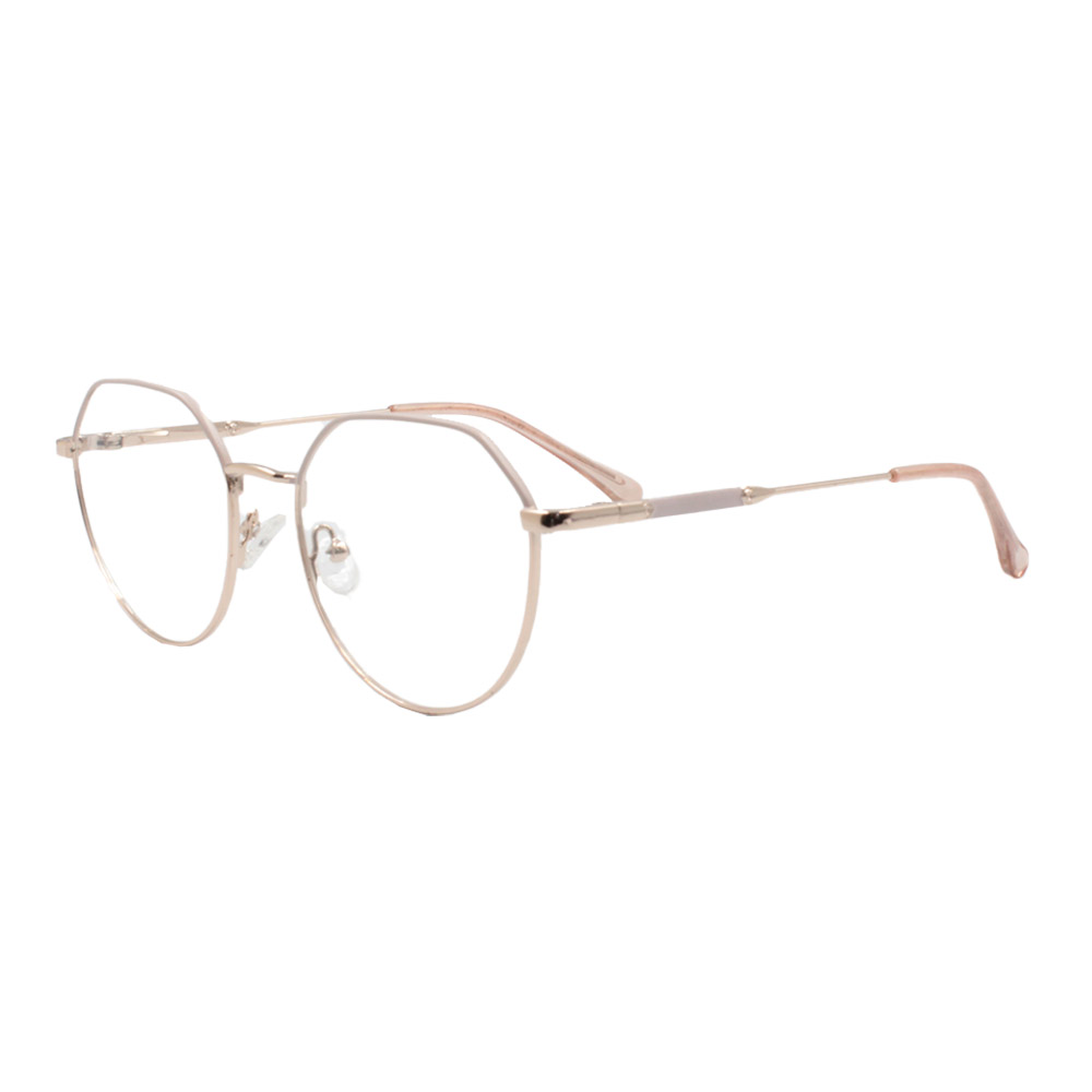 Armação para Óculos de Grau Feminino ISA1037 Dourada e Nude