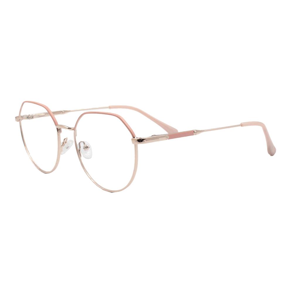 Armação para Óculos de Grau Feminino ISA1037 Dourada e Rosa