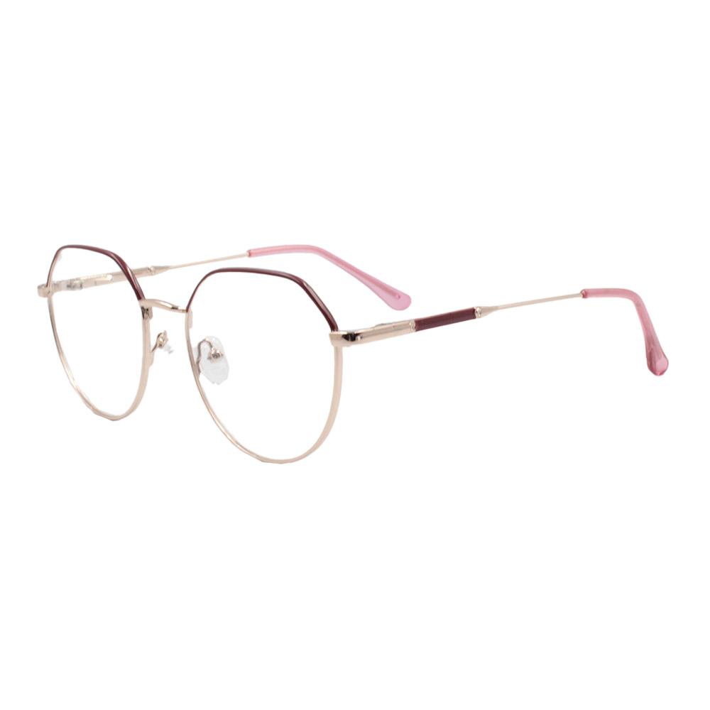 Armação para Óculos de Grau Feminino ISA1037 Dourada e Vermelha