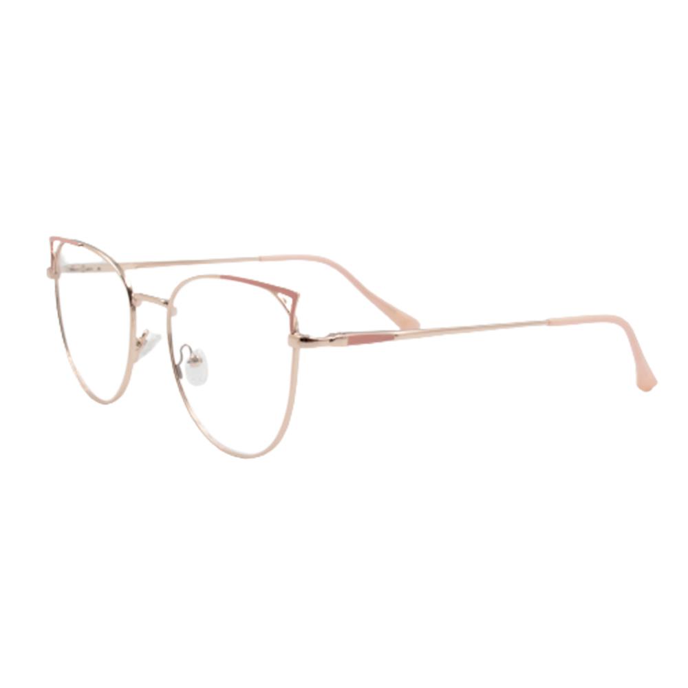 Armação para Óculos de Grau Feminino ISA1038-C3 Dourada e Rosa Claro