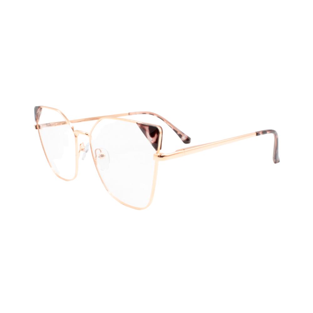 Armação para Óculos de Grau Feminino LQ95807-C13 Dourada e Mesclada