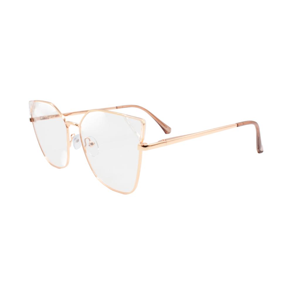 Armação para Óculos de Grau Feminino LQ95807-C3 Dourada e Transparente