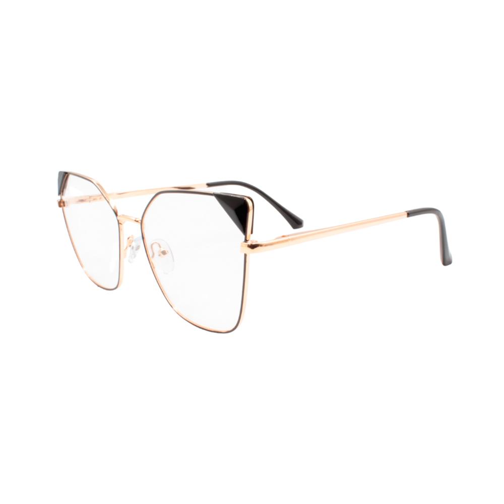Armação para Óculos de Grau Feminino LQ95807-C4 Dourada e Preta
