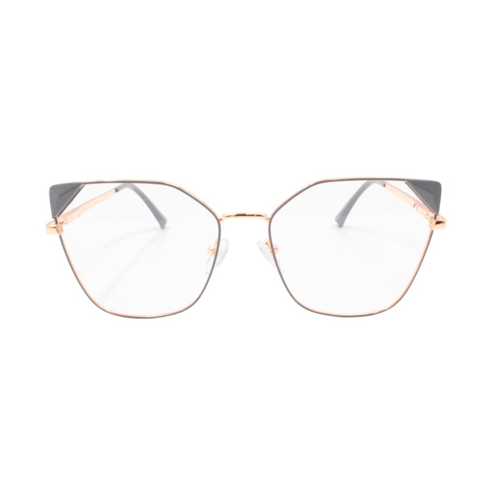 Armação para Óculos de Grau Feminino LQ95807-C6 Dourada e Cinza