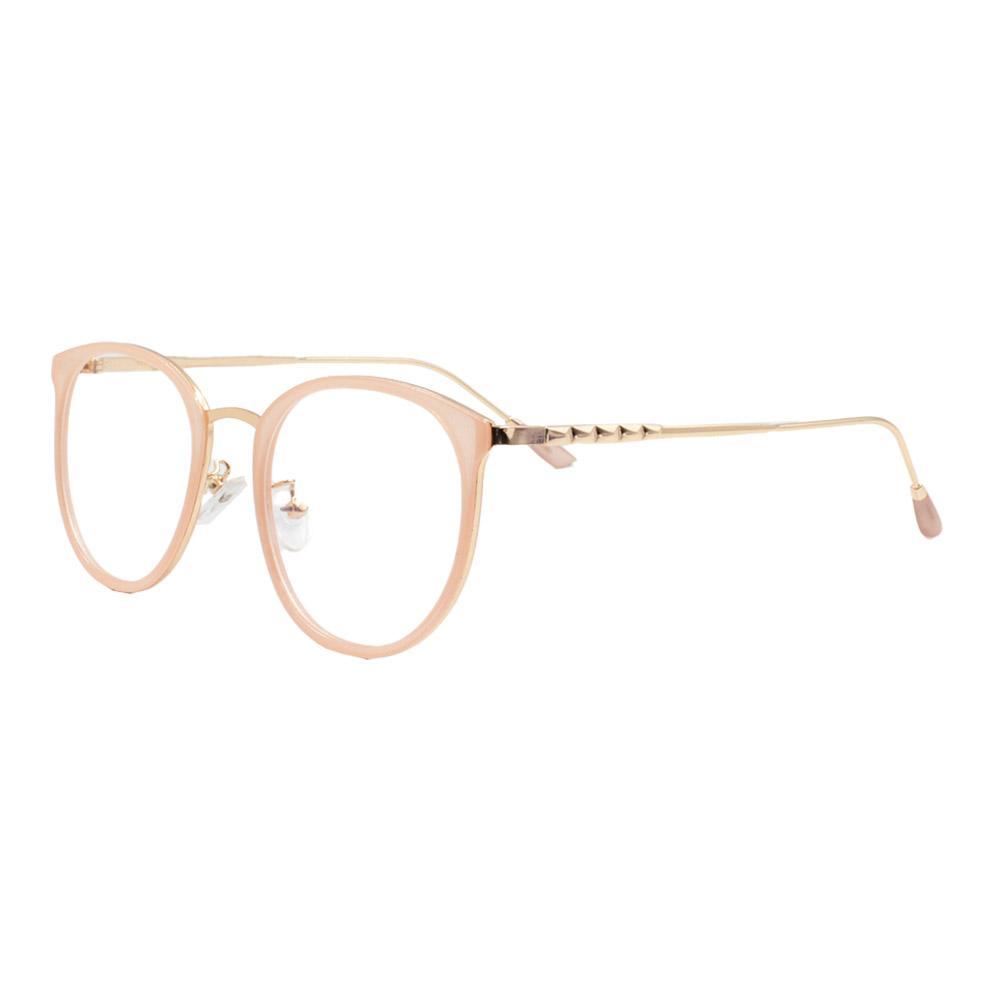 Armação para Óculos de Grau Feminino TR18073 Dourada e Nude