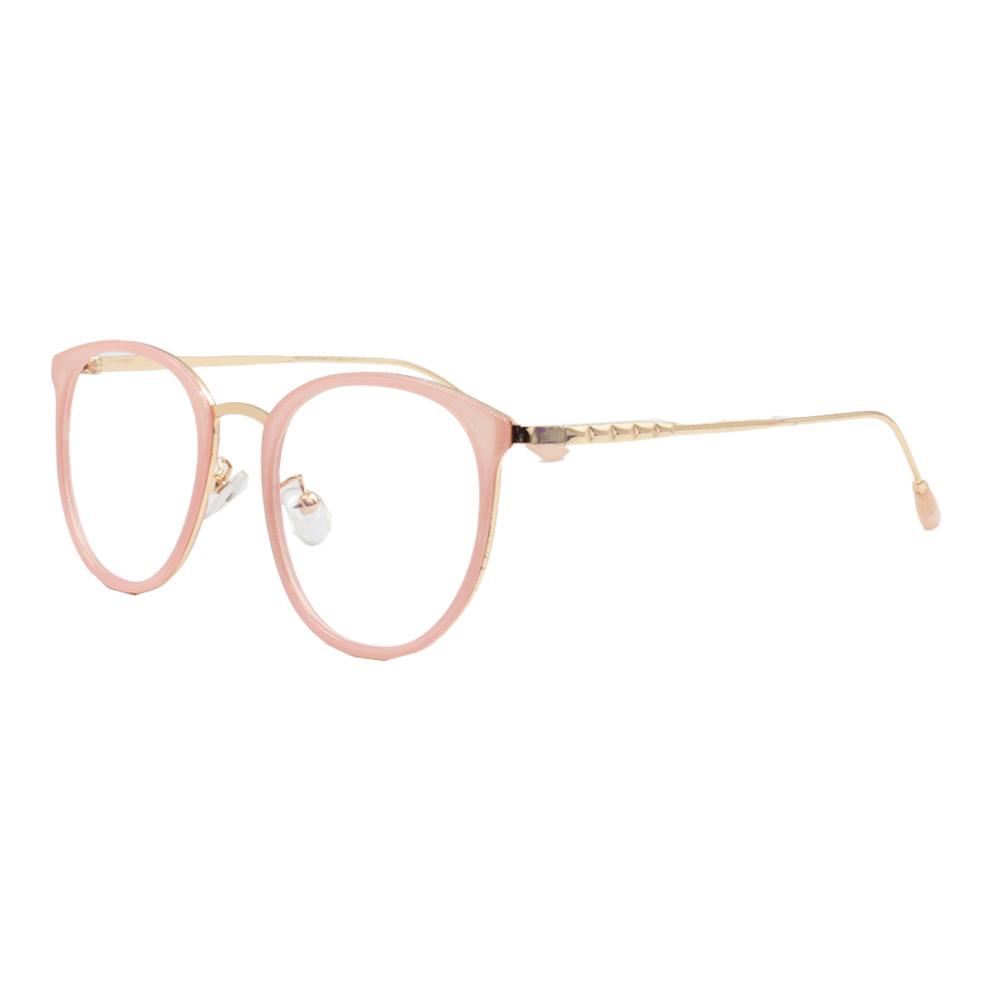 Armação para Óculos de Grau Feminino TR18073 Dourada e Rosa