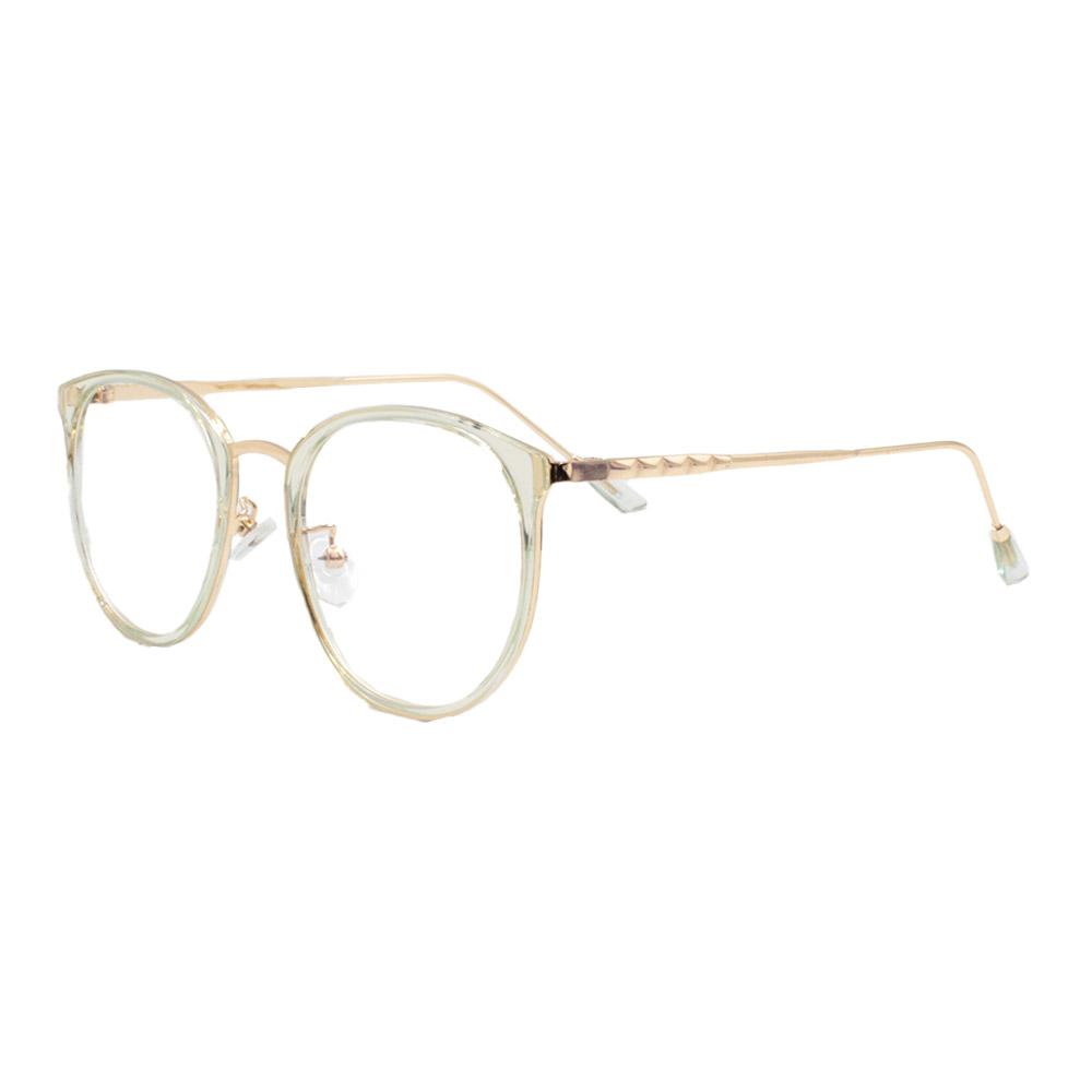 Armação para Óculos de Grau Feminino TR18073 Dourada e Verdee