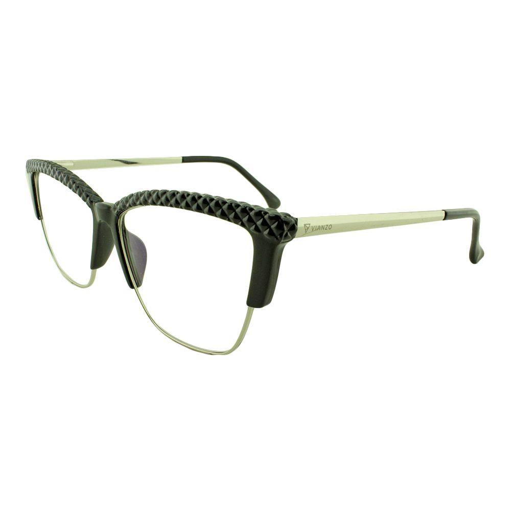 Armação para Óculos de Grau Feminino TR7164 Preta Vianzo