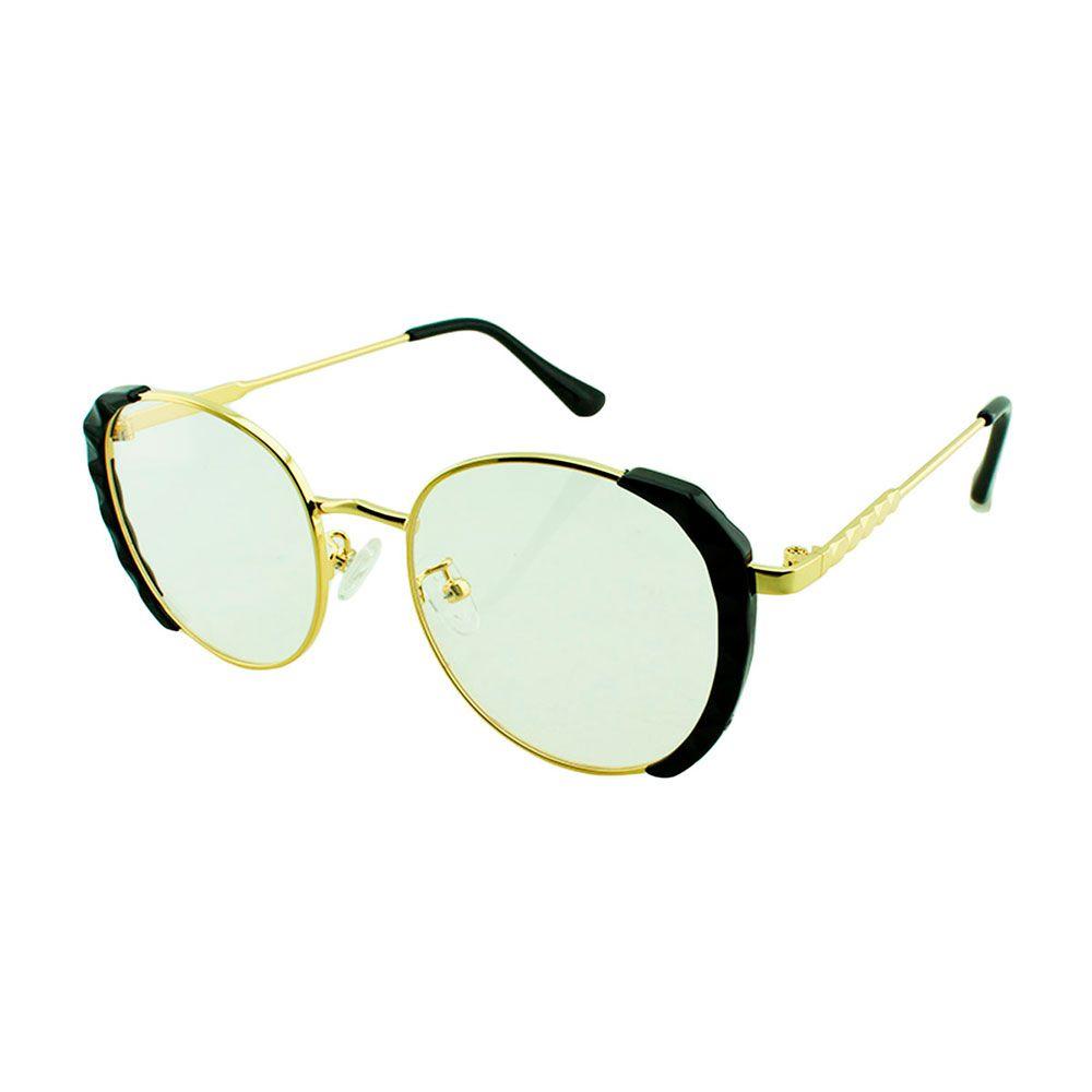 Armação para Óculos de Grau Feminino TR7182 Dourada e Preta