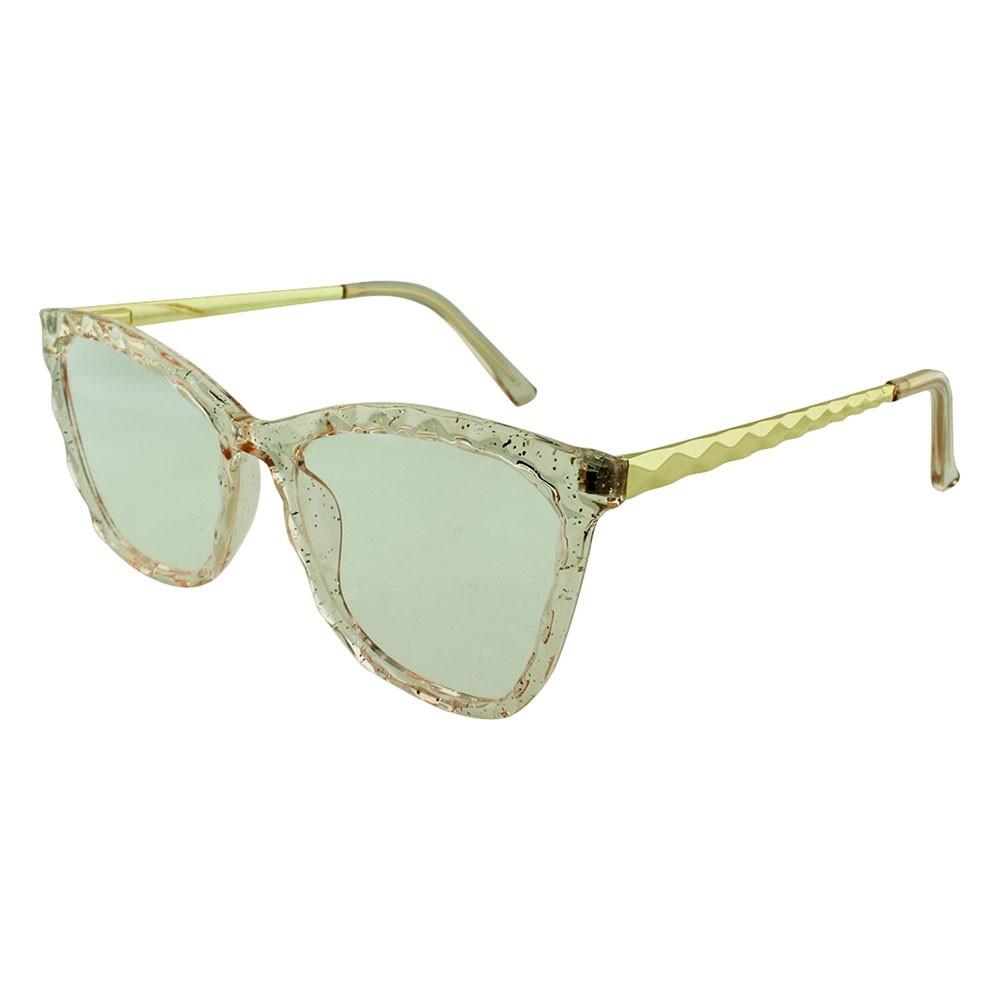 Armação para Óculos de Grau Feminino TR7300 Rosa com Glitter