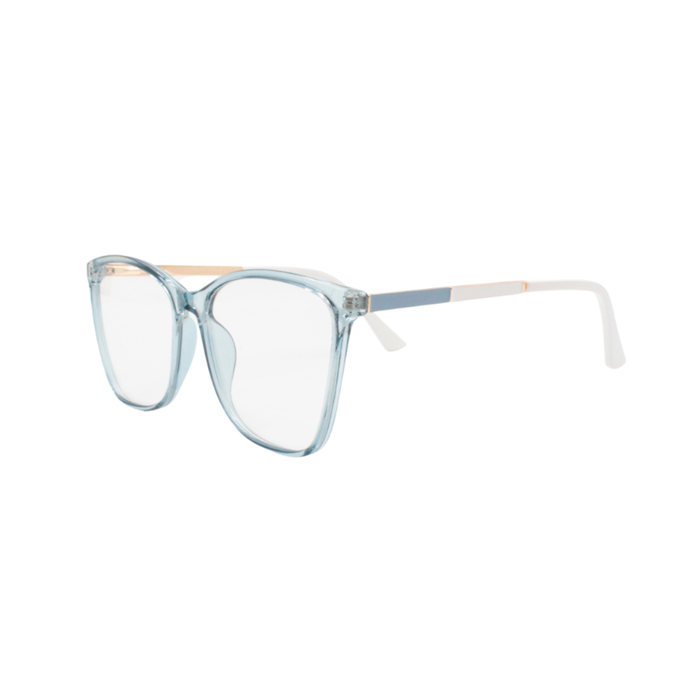 Armação para Óculos de Grau Feminino TR7302-C136 Azul Translúcido