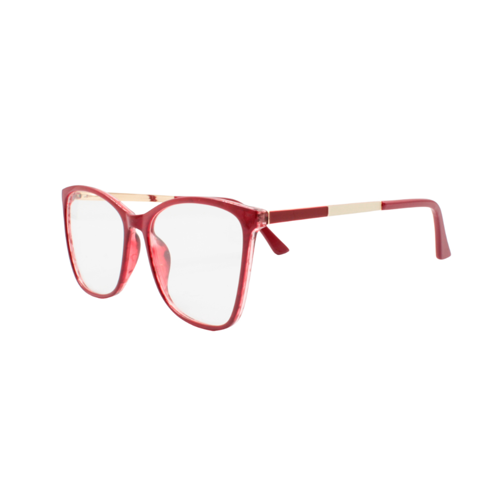 Armação para Óculos de Grau Feminino TR7302-C313 Vermelha Mesclada