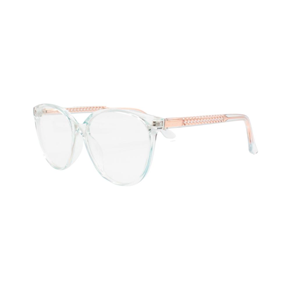 Armação para Óculos de Grau Feminino TR7332-C126 Verde Translúcida