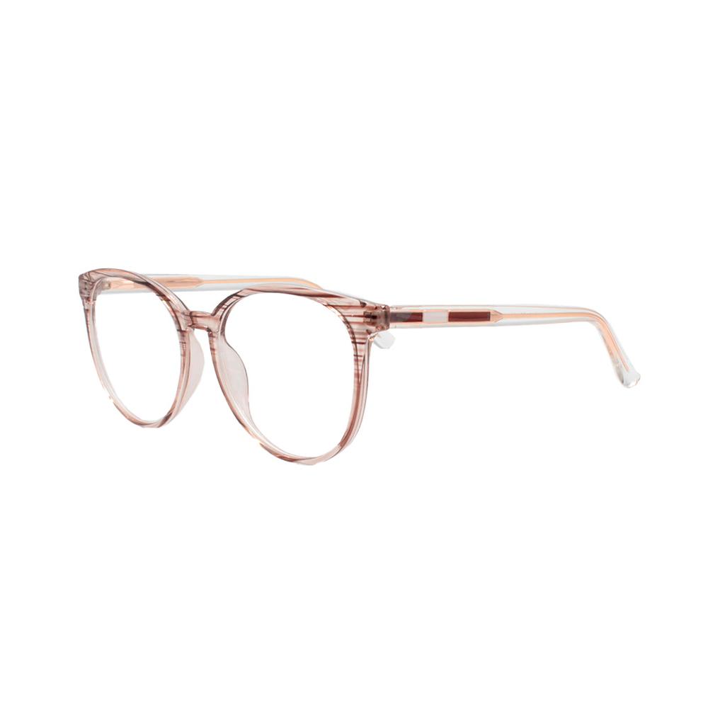 Armação para Óculos de Grau Feminino TR7503-C18 Marrom Listrada