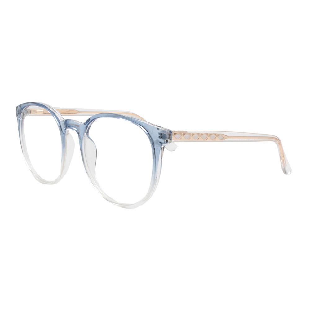 Armação para Óculos de Grau Feminino TR7521 Azul Degradê