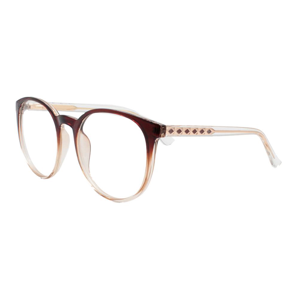 Armação para Óculos de Grau Feminino TR7521 Marrom Degradê