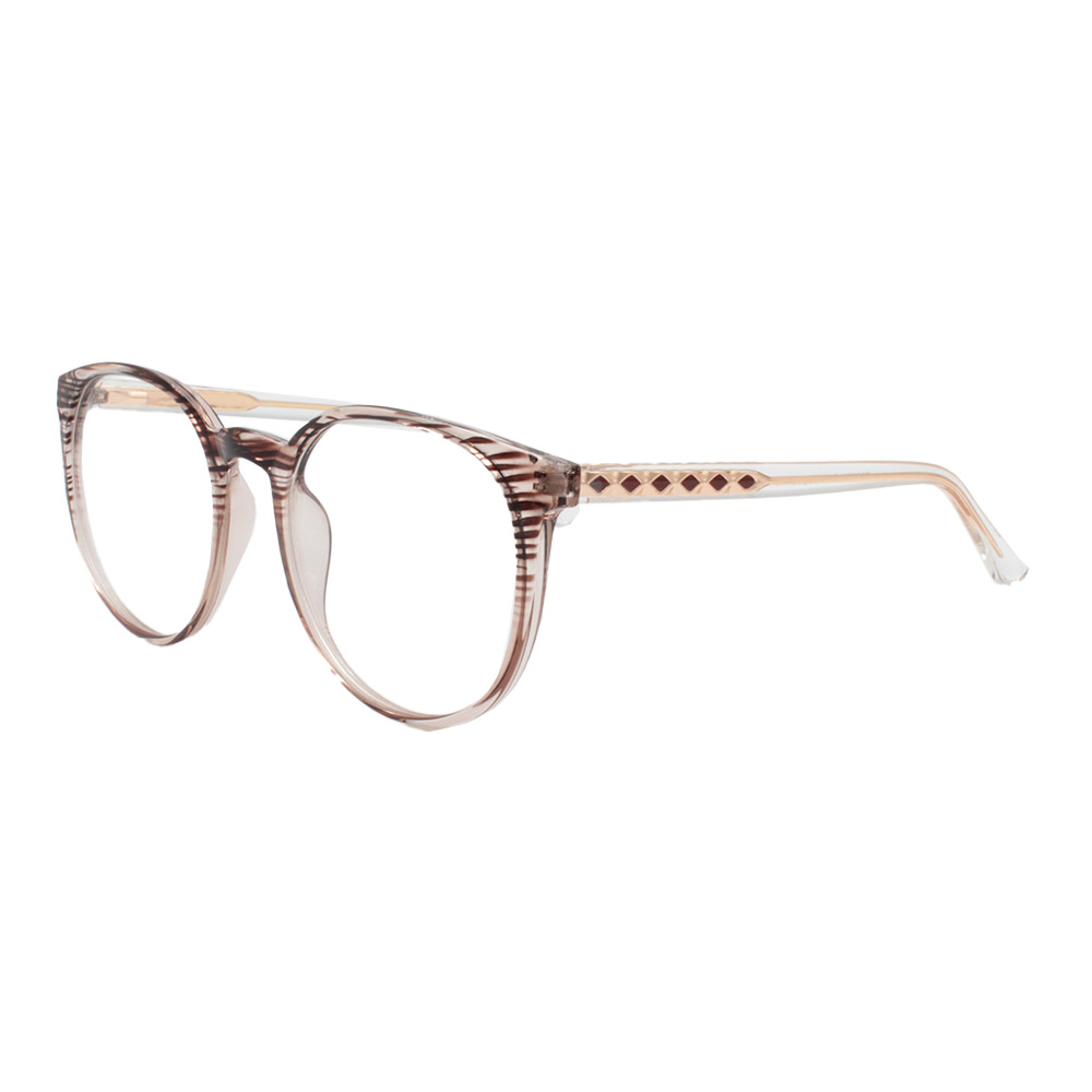 Armação para Óculos de Grau Feminino TR7521 Marrom Listrada