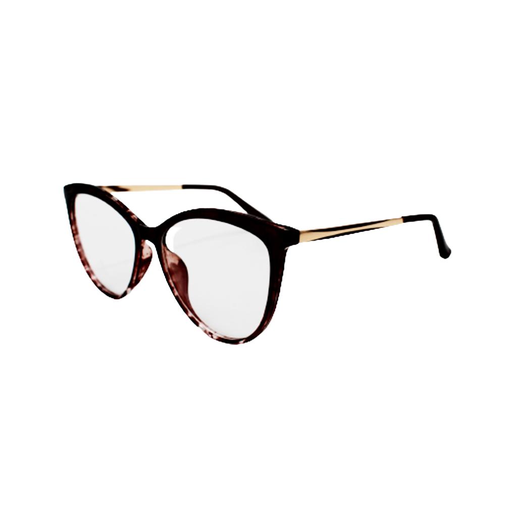 Armação para Óculos de Grau Feminino TR7526-C20 Vinho Mesclada