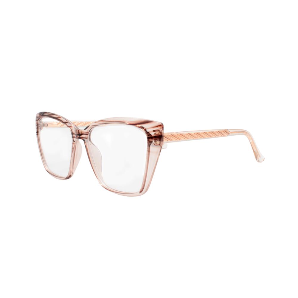 Armação para Óculos de Grau Feminino TR7559-C18 Marrom Listrada