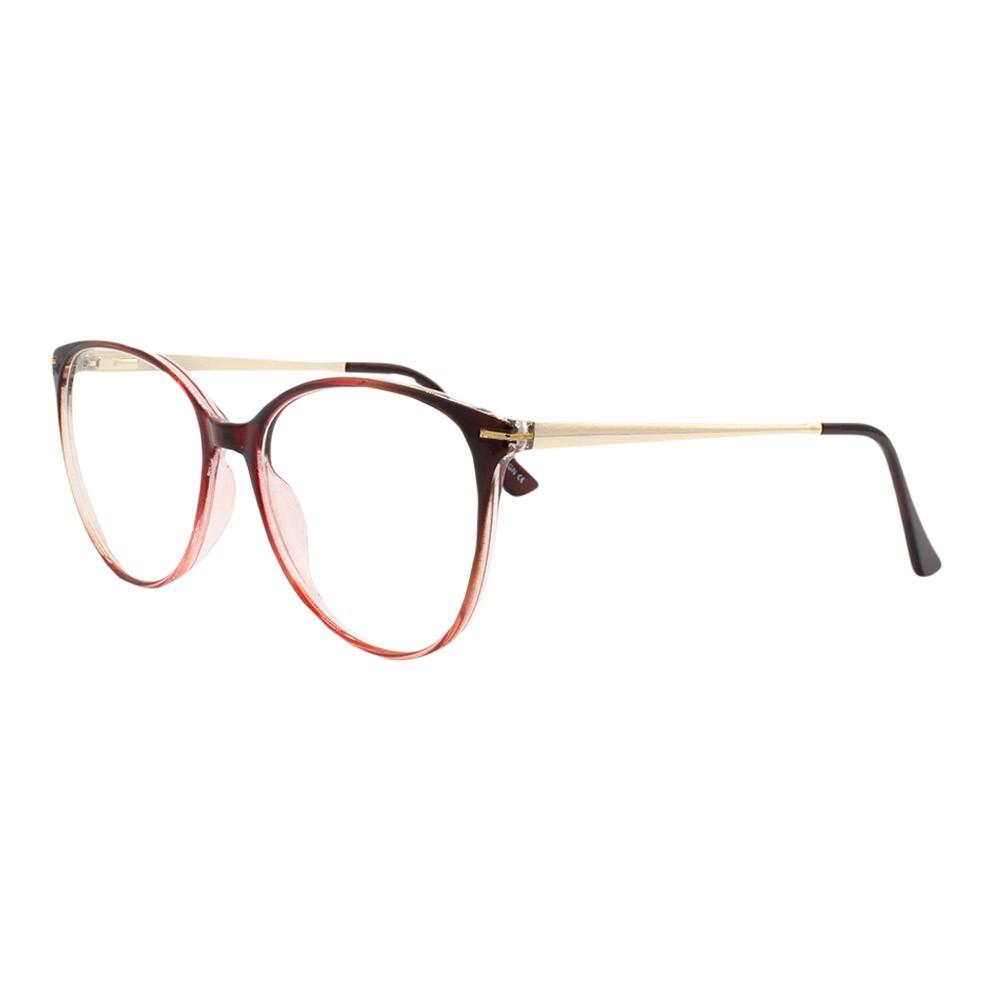Armação para Óculos de Grau Feminino TW926 Vinho Gradiente