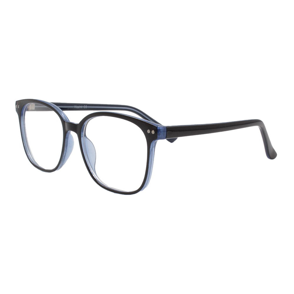 Armação para Óculos de Grau Feminino VZ109 Preta e Azul