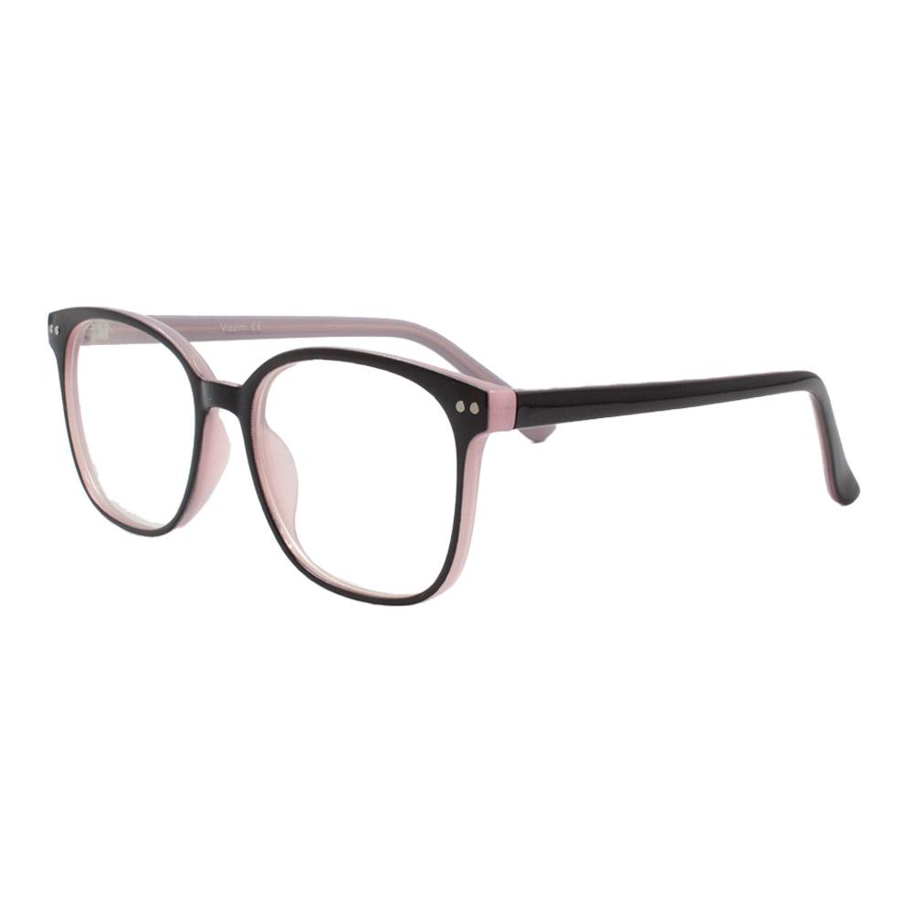 Armação para Óculos de Grau Feminino VZ109 Preta e Rosa