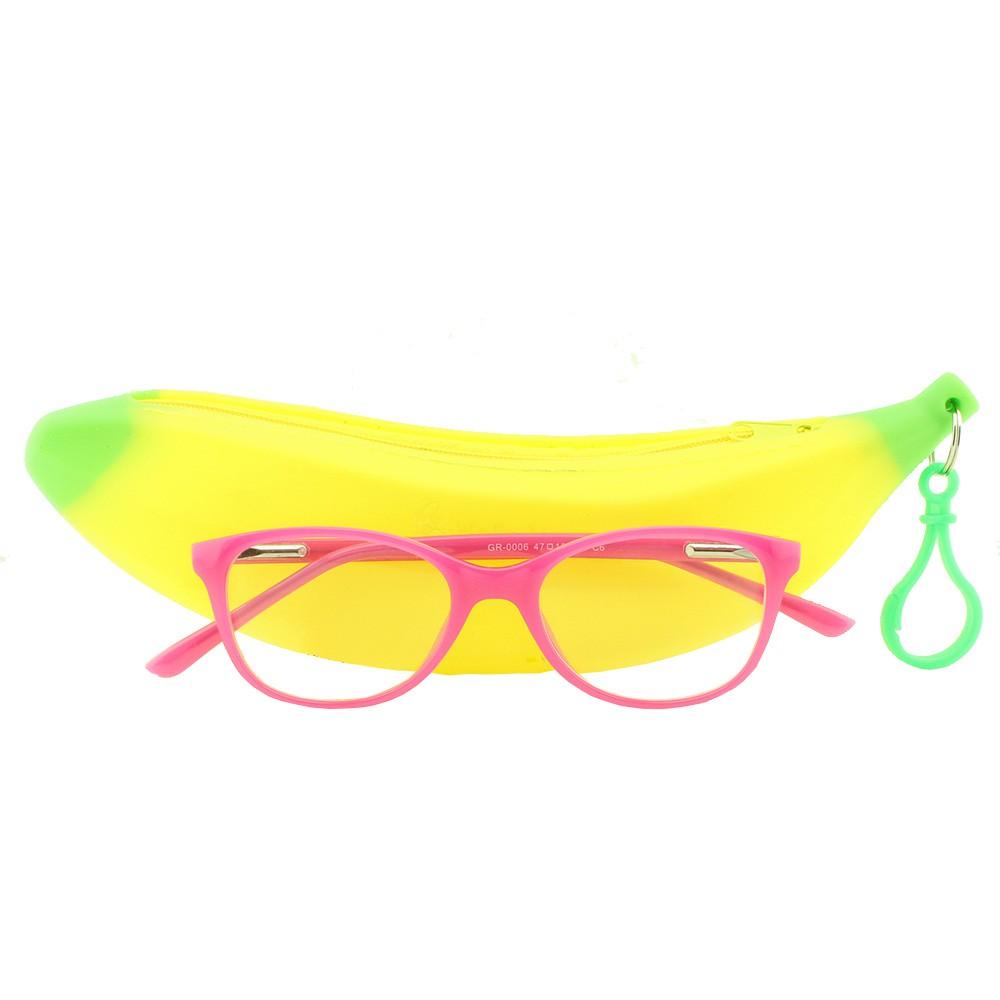 Armação para Óculos de Grau Infantil GR0006 Rosa com Estojo Hello Nana
