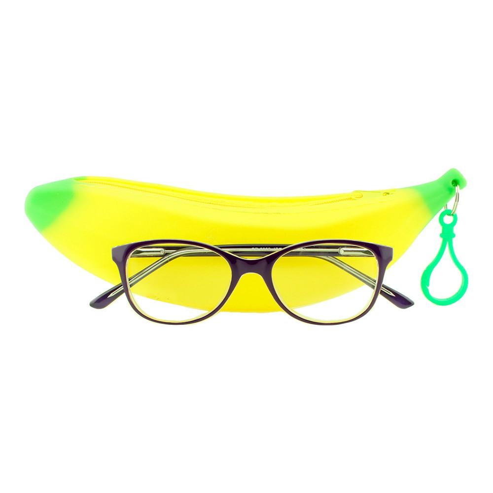 Armação para Óculos de Grau Infantil GR0006 Roxa com Estojo Hello Nana