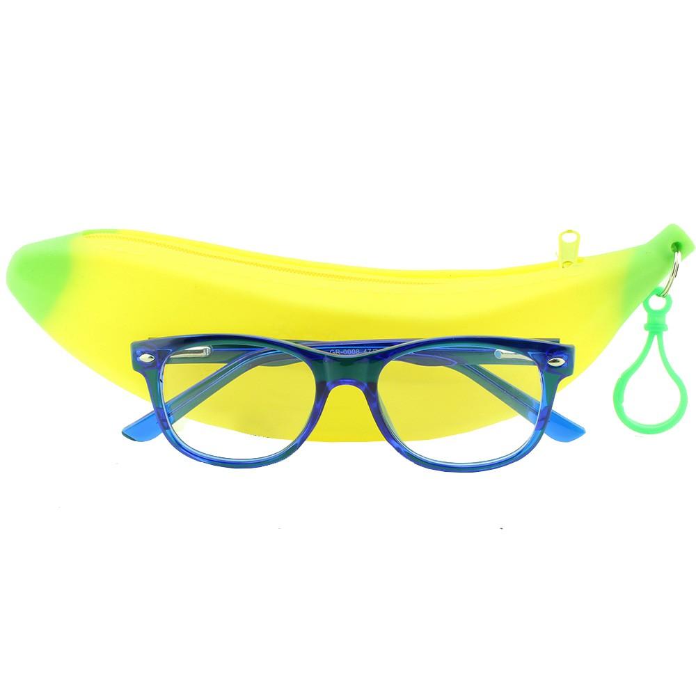 Armação para Óculos de Grau Infantil GR0008 Azul com Estojo Hello Nana
