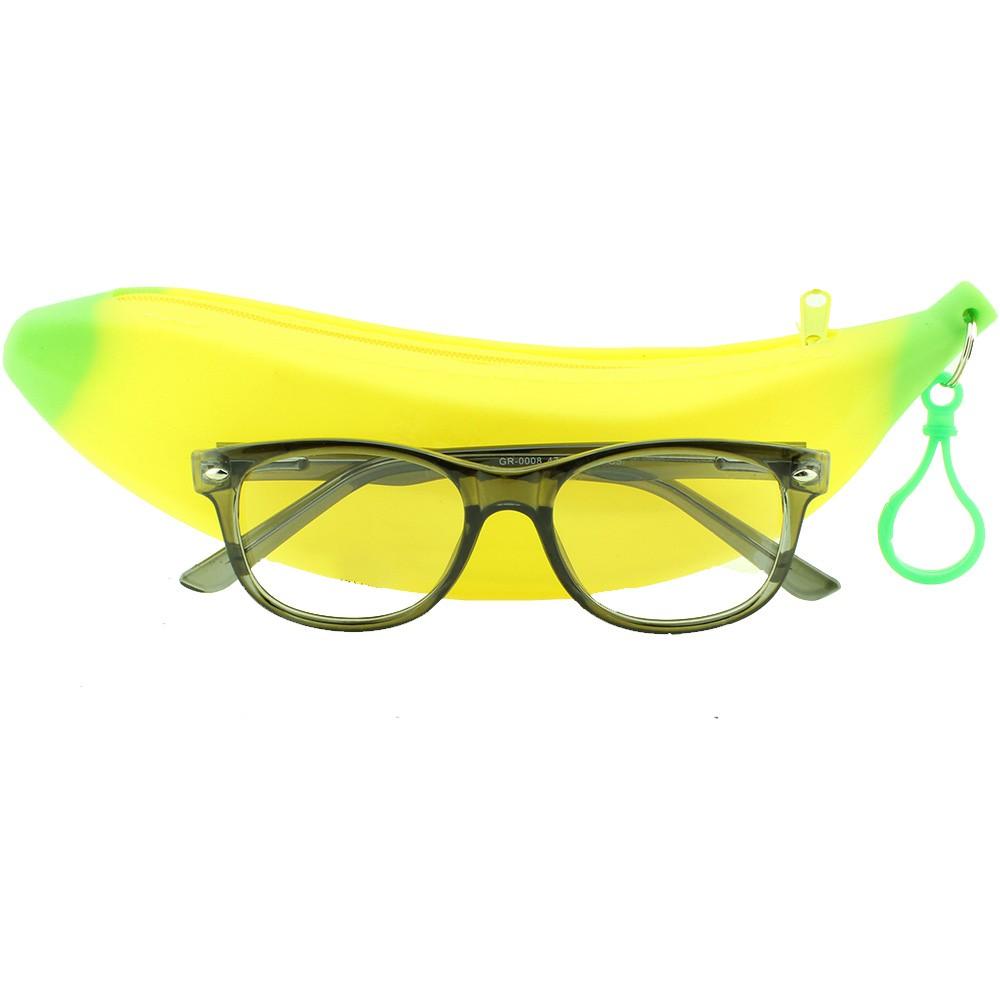 Armação para Óculos de Grau Infantil GR0008 Fumê com Estojo Hello Nana
