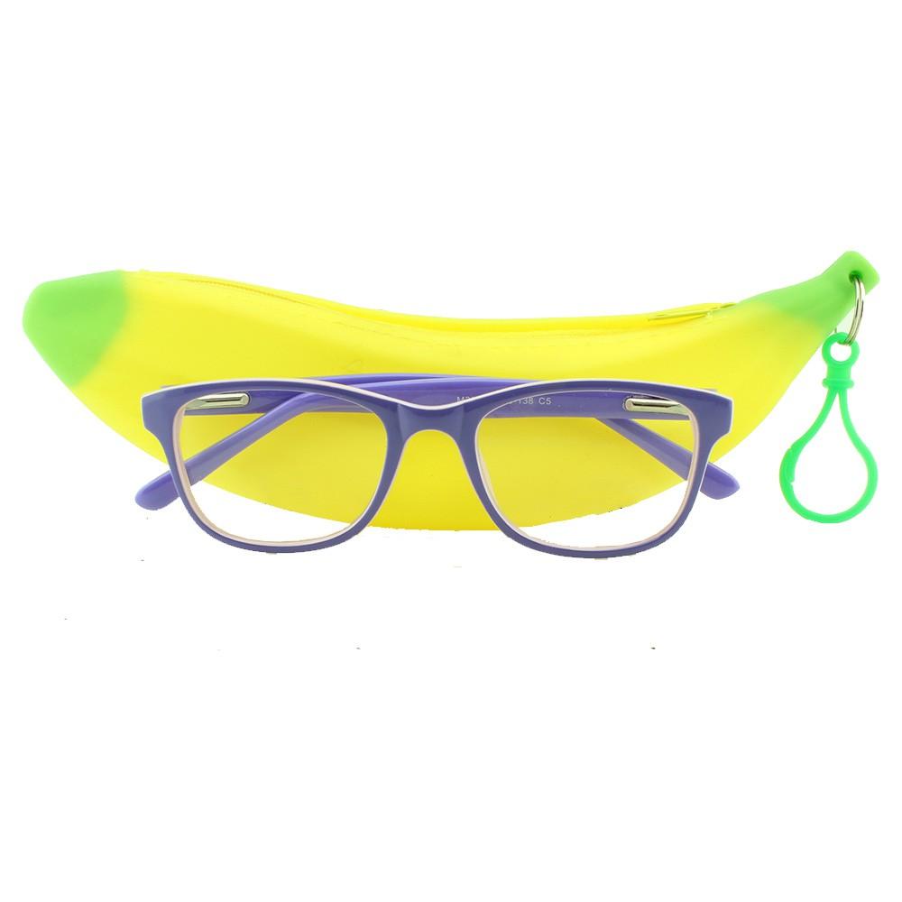 Armação para Óculos de Grau Infantil M29 Lilás e Rosa com Estojo Hello Nana