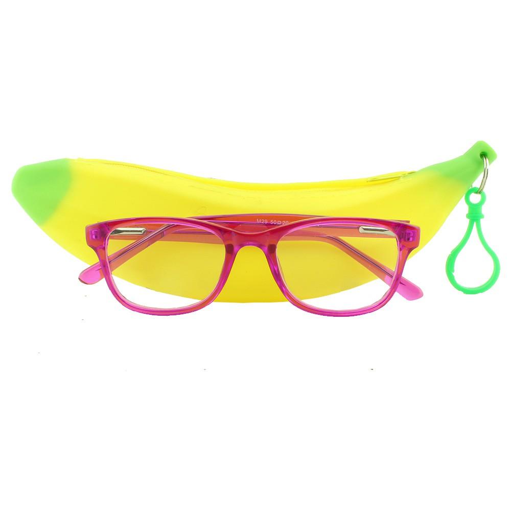 Armação para Óculos de Grau Infantil M29 Rosa Pink com Estojo Hello Nana